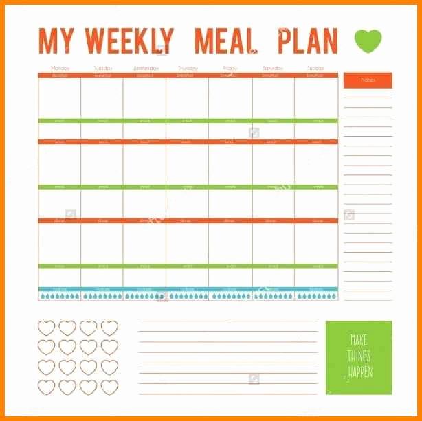 Meal Plan Template Word Beautiful 12 Editable Menu Planner