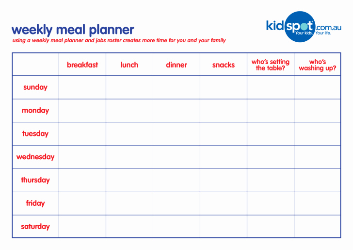 Meal Plan Template Word Inspirational Meal Planner Template Sample Menu Printable Daily Pdf