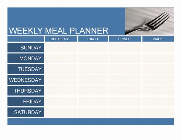 Meal Plan Template Word Inspirational Planners and Trackers Fice