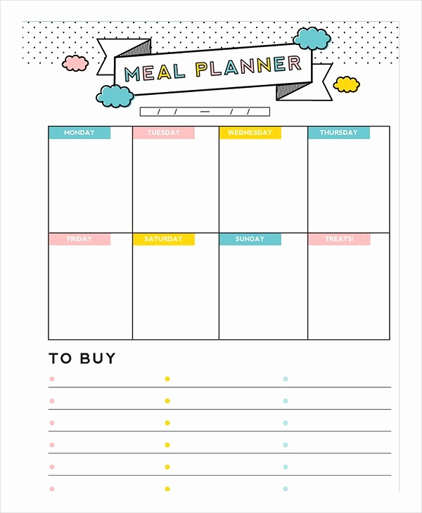 Meal Plan Template Word Lovely Meal Plan Template – 18 Free Word Pdf Psd Vector