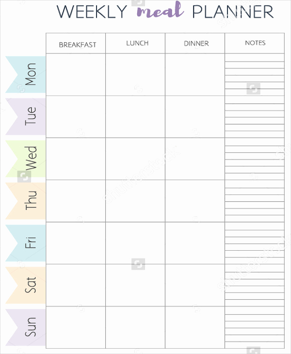 Meal Plan Template Word Unique Meal Planner Template Word