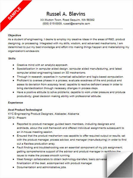 Mechanical Engineer Resume Sample Elegant Mechanical Engineer Resume Sample