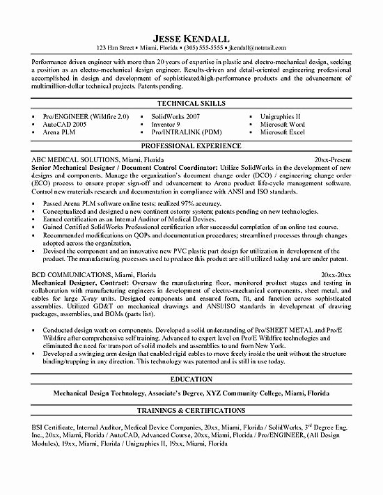 Mechanical Engineer Resume Sample New 10 Best Best Mechanical Engineer Resume Templates