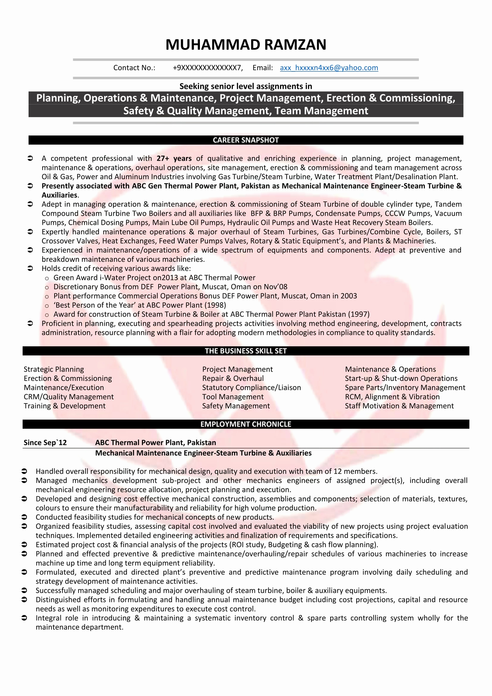 Mechanical Engineer Resume Sample Unique Mechanical Engineer Sample Resumes Download Resume format
