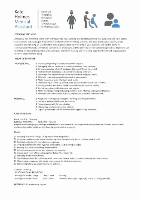 Medical assistant Resume Template Elegant Medical assistant Sample Resume