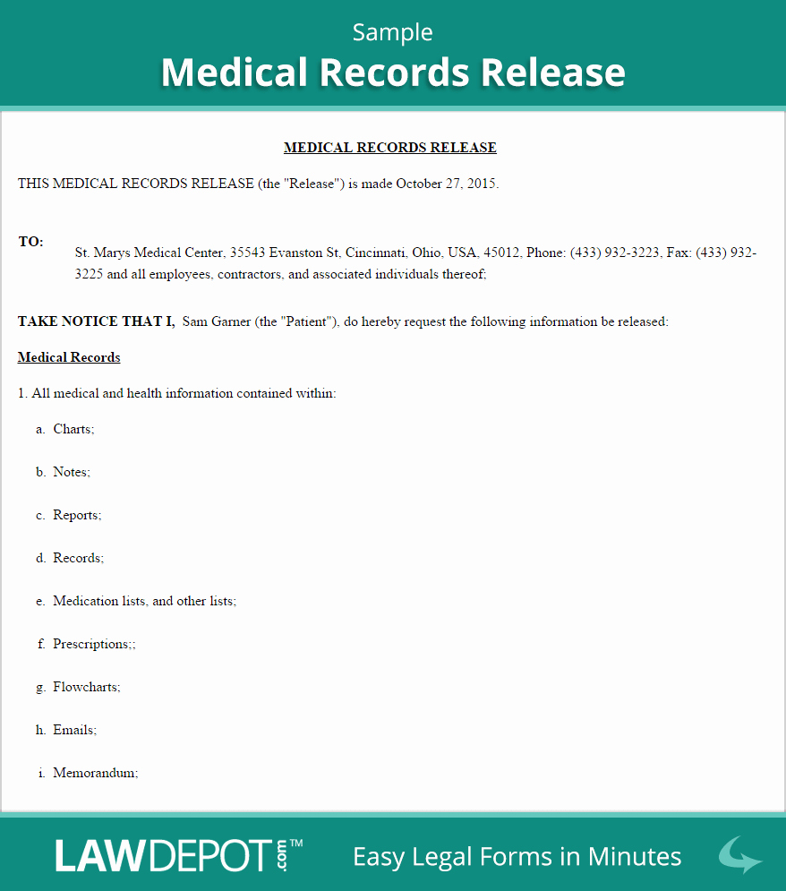 Medical Record Release form Best Of Medical Records Release form Us