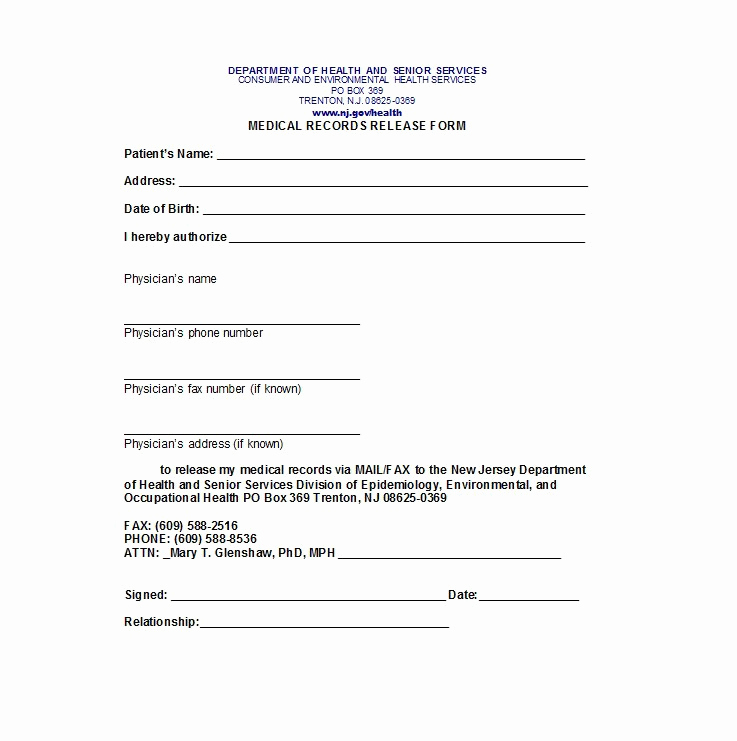 Medical Release form Templates Elegant 30 Medical Release form Templates Template Lab
