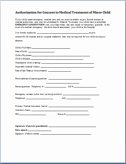 sample child consent form
