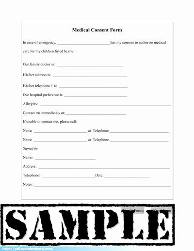 Medical Release forms Template Lovely Medical Consent Free Download Create Fill Print Pdf