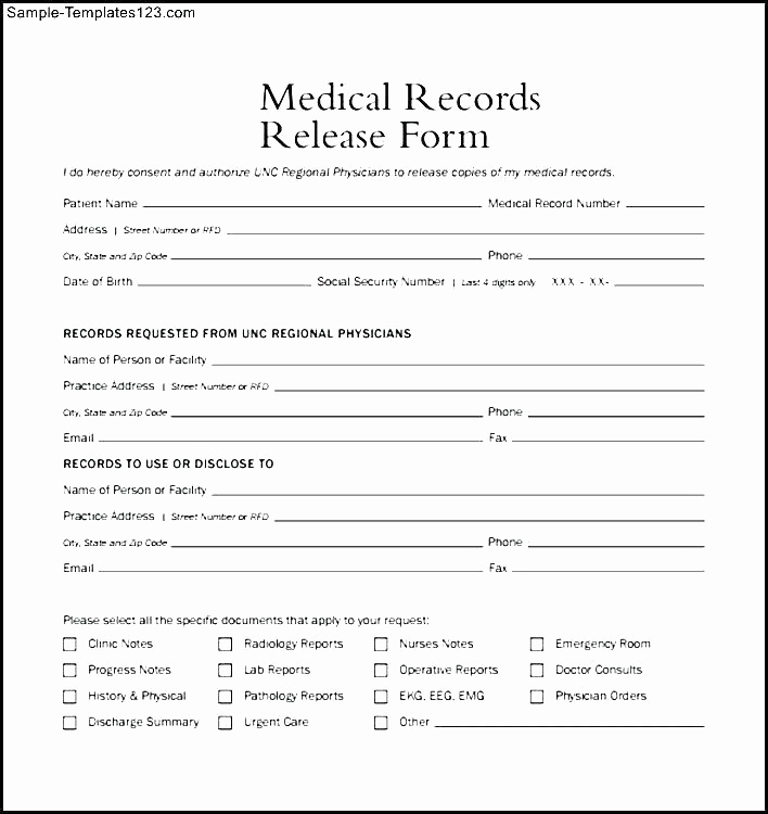 Medical Release forms Template Luxury 14 15 Medical Records Release Letter
