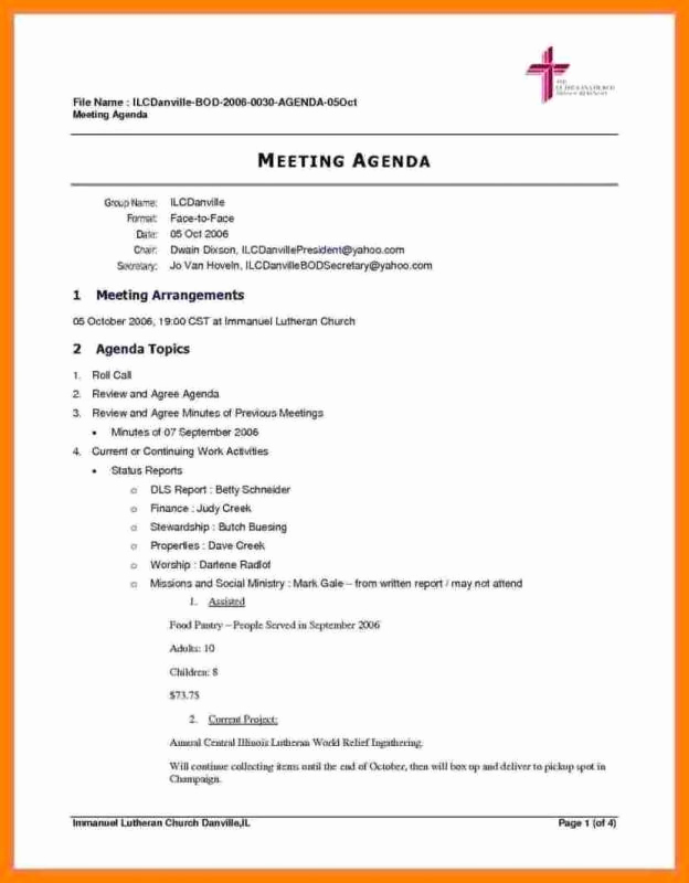 Meeting Agenda Template Doc Awesome Meeting Agenda Template Doc