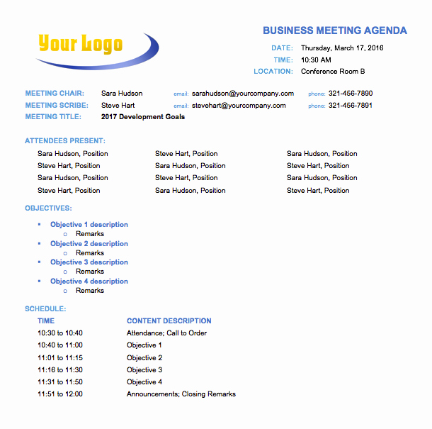 Meeting Agenda Template Doc Elegant 10 Free Meeting Agenda Templates for Microsoft Word