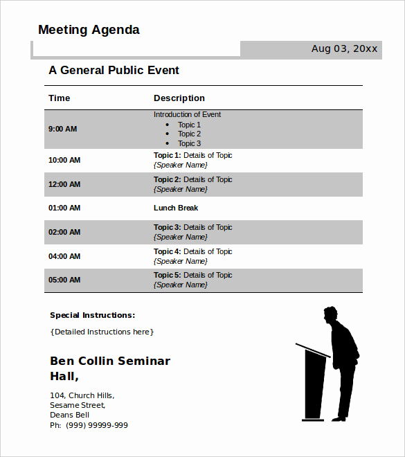 Meeting Agenda Template Doc Fresh 50 Meeting Agenda Templates Pdf Doc