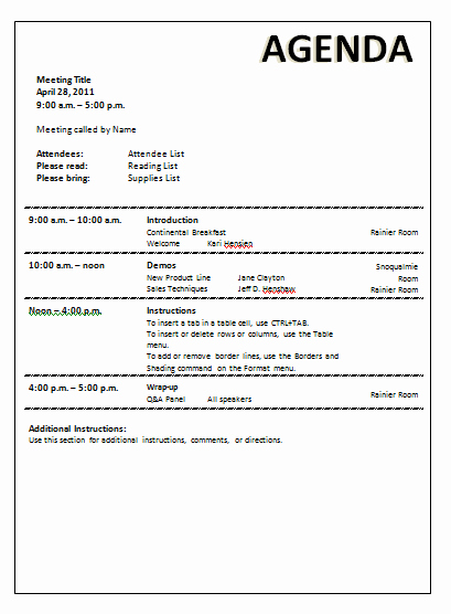 Meeting Agenda Template Doc New Meeting Agenda Template