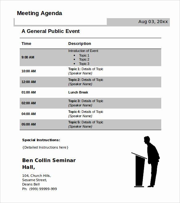 Meeting Agenda Template Word Awesome 50 Meeting Agenda Templates Pdf Doc
