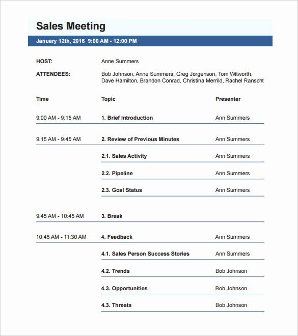 Meeting Agenda Template Word Best Of 50 Meeting Agenda Templates Pdf Doc