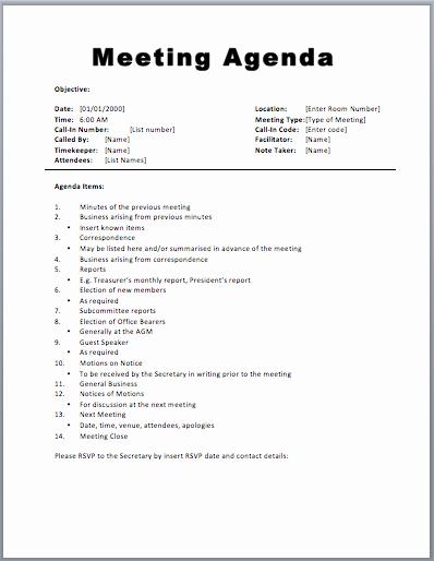 Meeting Agenda Template Word Elegant Meeting Agenda Template 1 Agenda