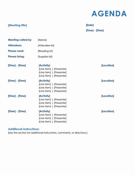 Meeting Agenda Template Word Fresh 15 Meeting Agenda Templates Excel Pdf formats