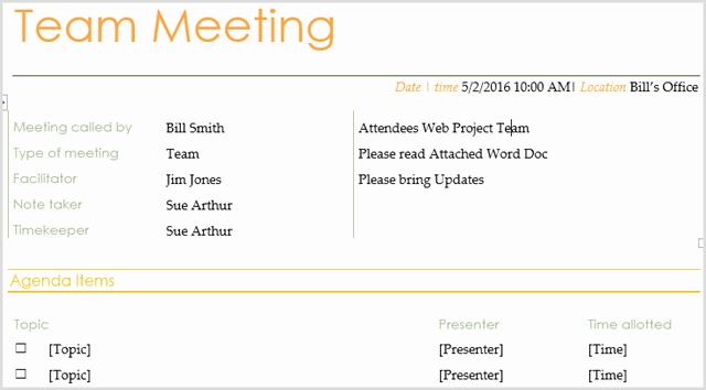 Meeting Agenda Template Word New 15 Best Meeting Agenda Templates for Word