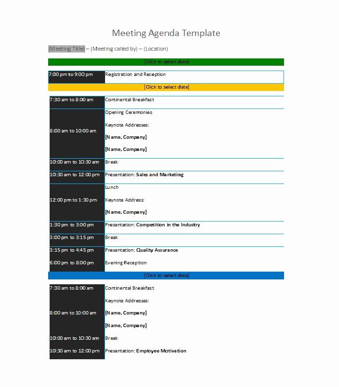 Meeting Agenda Template Word New 51 Effective Meeting Agenda Templates Free Template