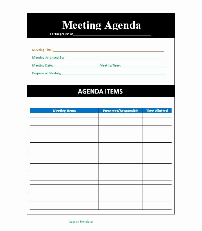 Meeting Agenda Template Word Unique 46 Effective Meeting Agenda Templates Template Lab