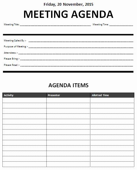 Meeting Agenda Template Word Unique Ms Word Informal Meeting Agenda