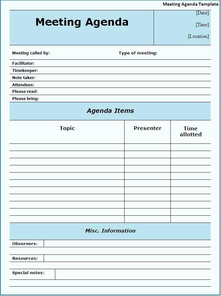 Meeting Minute Template Word Fresh Meeting Agendas Templates