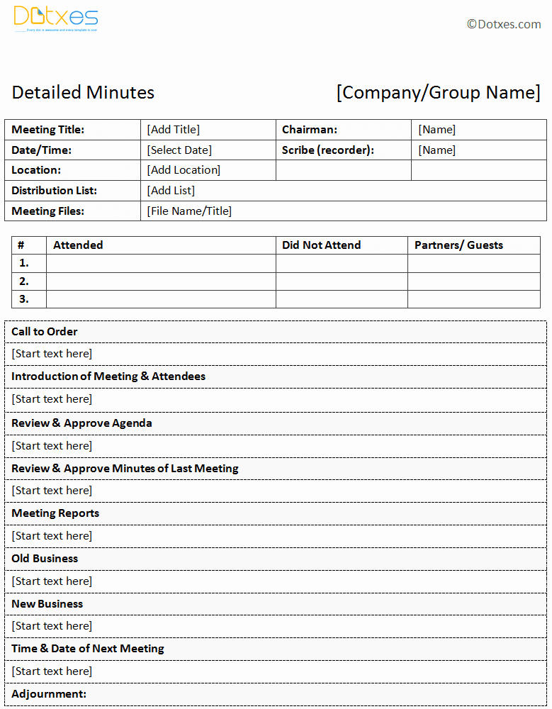 Meeting Minute Template Word New Meeting Minutes Templates Twelwe Image