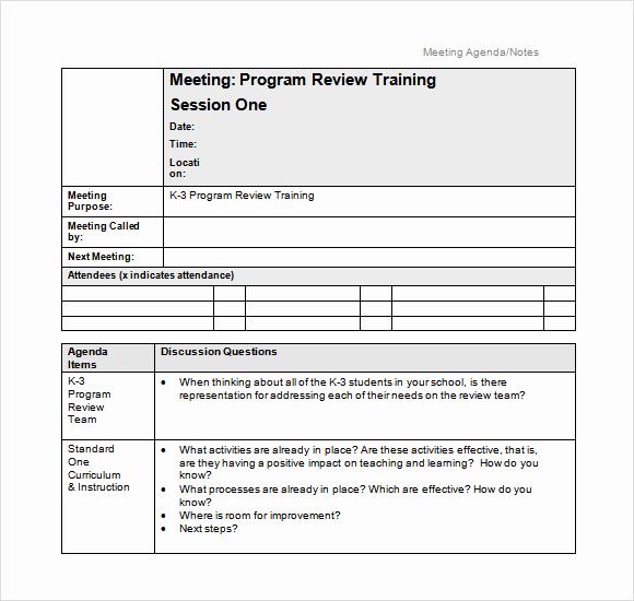 Meeting Minutes Template Doc Beautiful Sample School Agenda 8 Documents In Pdf Word