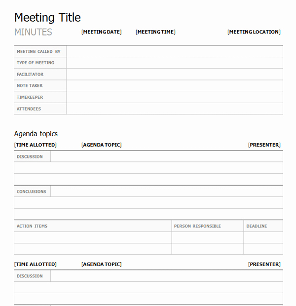 Meeting Minutes Template Doc Elegant What are the Elements Of A Meeting Minutes Template