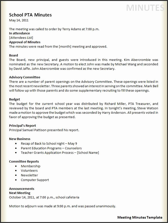 Meeting Minutes Template Doc Lovely Meeting Minutes Template