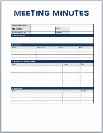 Meeting Minutes Template Doc Luxury Minutes Meeting Template