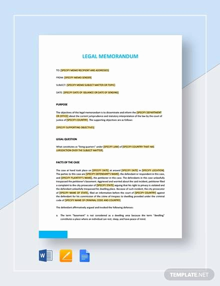 Memo Template Google Docs Lovely Sample Legal Memo Template 11 Documents In Pdf Google