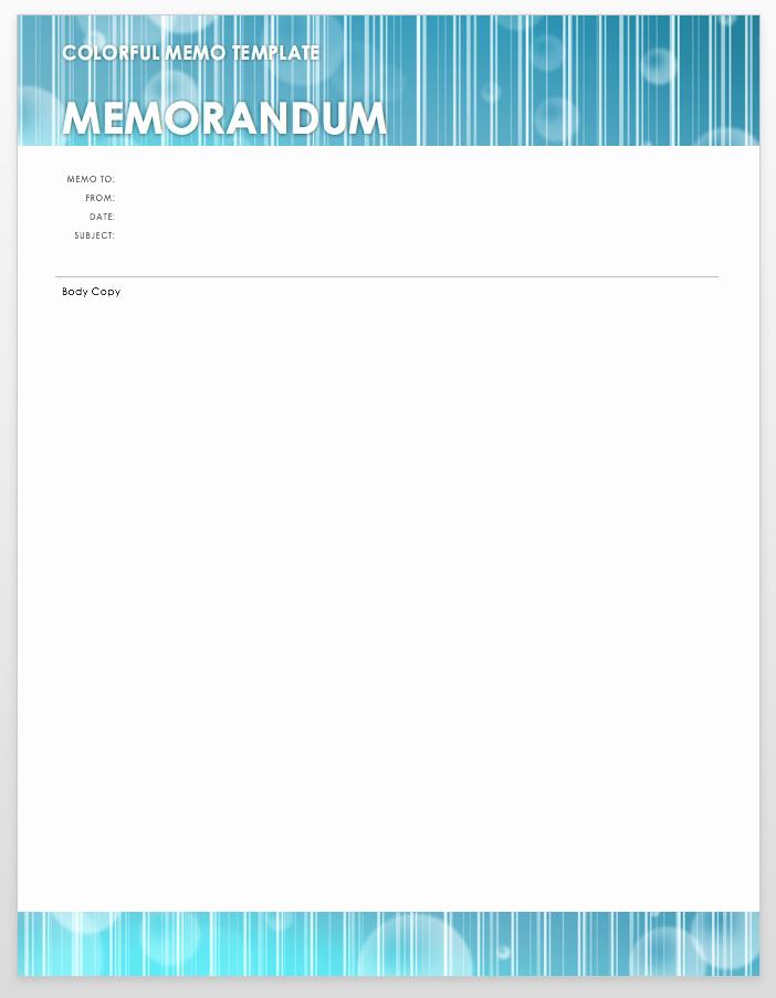 Memo Template Google Docs New Free Business Memos Templates