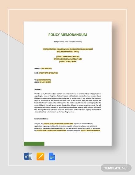 Memo Template Google Docs Unique Policy Memo Template 15 Word Pdf Google Docs