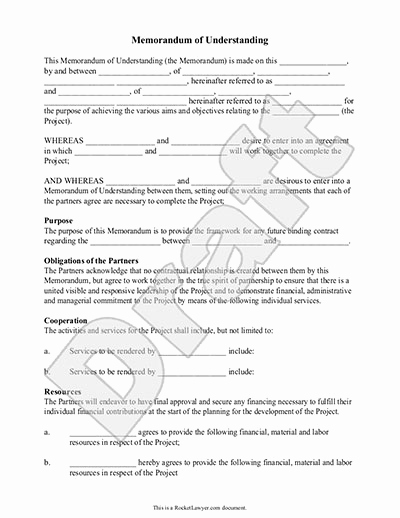 Memorandum Of Agreement Template Beautiful Memorandum Of Understanding form Mou Template with Sample