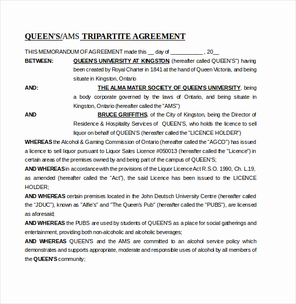 Memorandum Of Agreement Template Fresh 16 Memorandum Of Agreement Templates Pdf Doc
