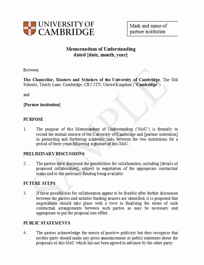 Memorandum Of Agreement Template Fresh 50 Free Memorandum Of Understanding Templates [word]