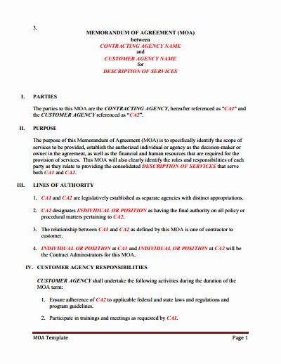 Memorandums Of Understanding Examples Elegant Memorandum Of Understanding Download Edit Fill & Print