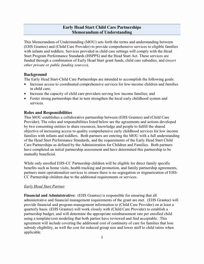 Memorandums Of Understanding Examples Lovely Sample Memorandum Of Understanding Template In Word and