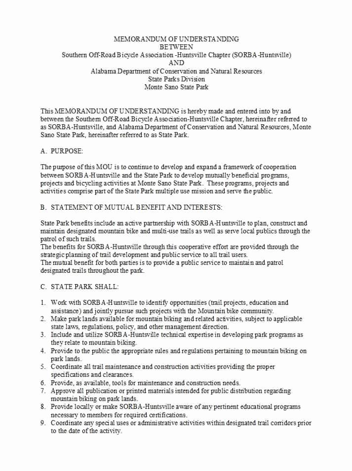 Memorandums Of Understanding Examples New 50 Free Memorandum Of Understanding Templates [word]