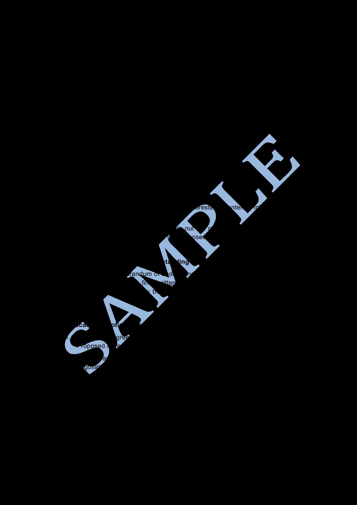 Memorandums Of Understanding Examples New Memorandum Of Understanding Sample Lawpath