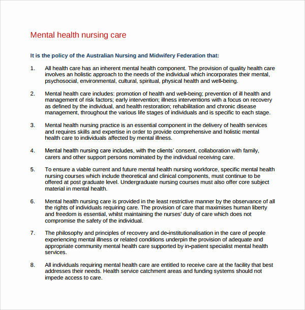Mental Health Nursing Diagnosis New 8 Nursing Care Plan Templates