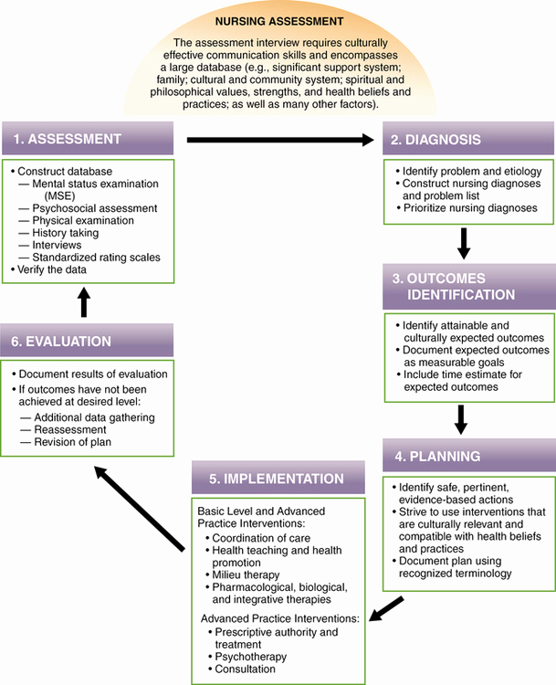 Mental Health Nursing Diagnosis Unique the Nursing Process and Standards Of Care for Psychiatric