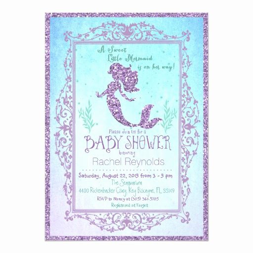 Mermaid Baby Shower Invitations Awesome Mermaid Baby Shower Invitation