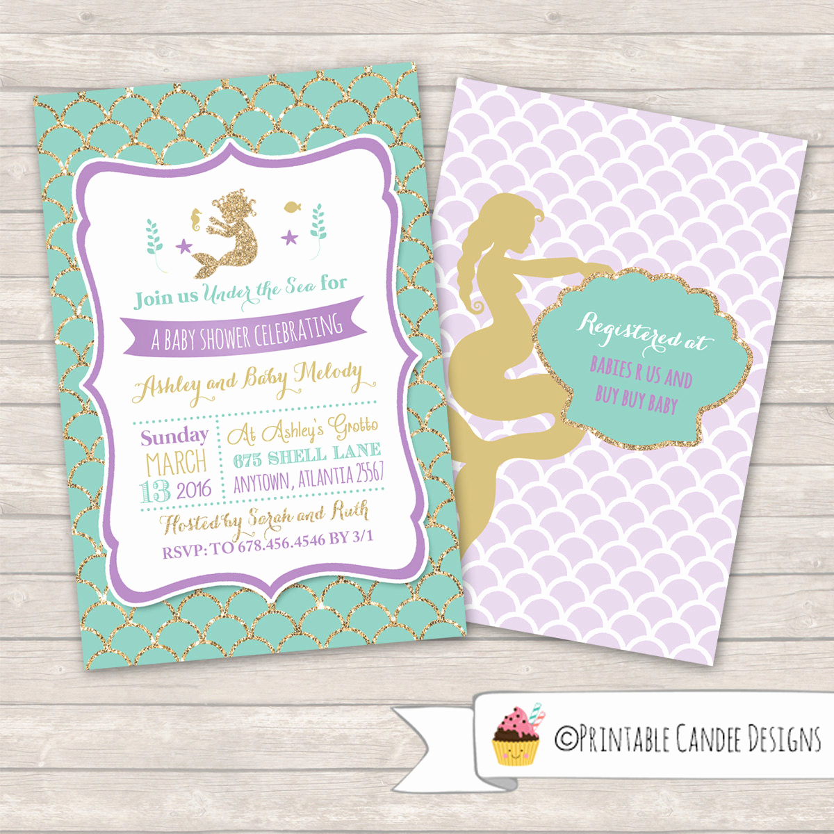 Mermaid Baby Shower Invitations Lovely Mermaid Baby Shower Invitation Mermaid Baby by Printablecandee