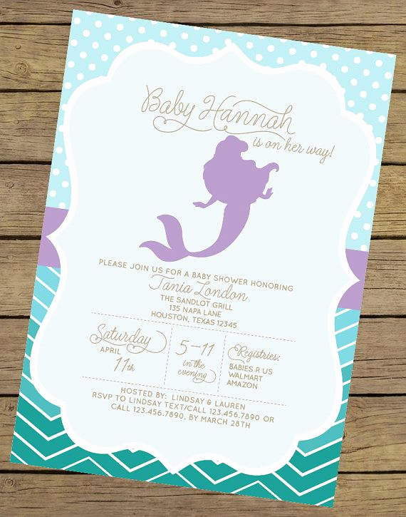 Mermaid Baby Shower Invitations Luxury 1000 Ideas About Mermaid Baby Showers On Pinterest