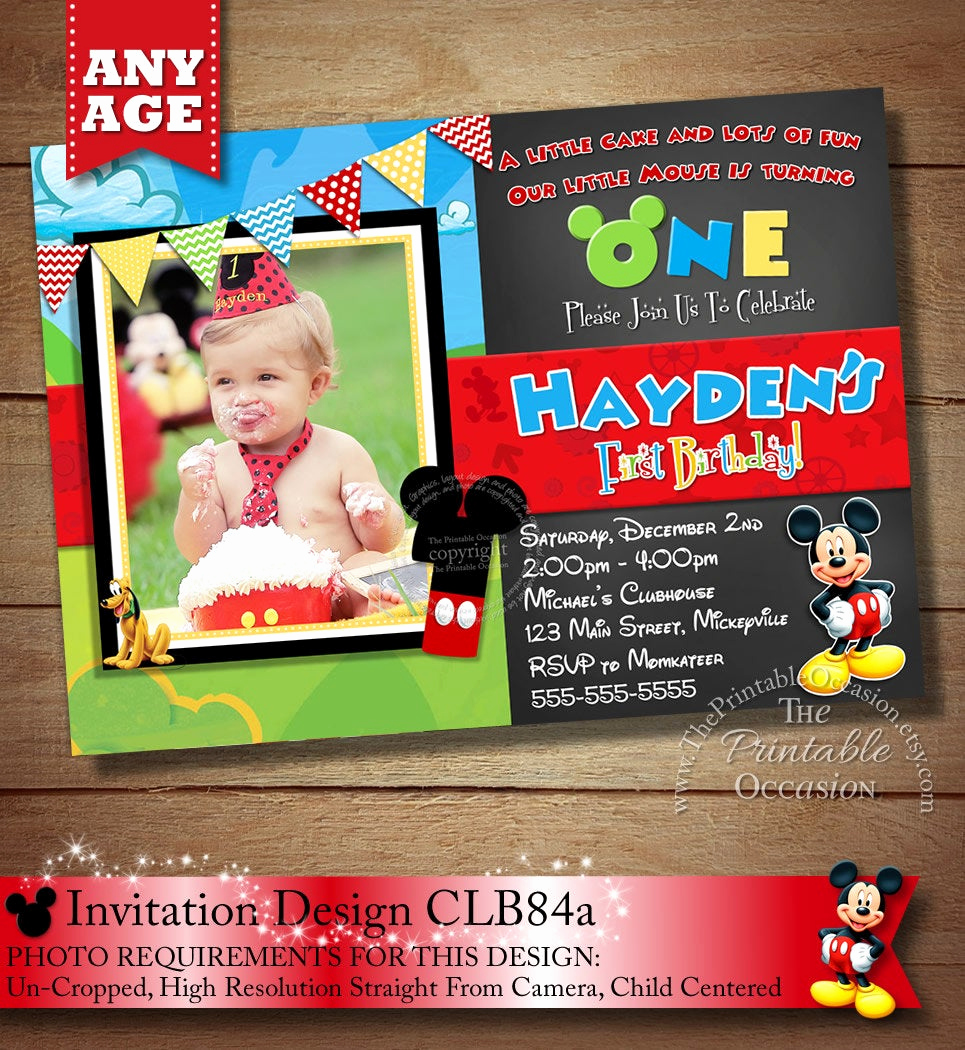 mickey mouse clubhouse invitation mickey