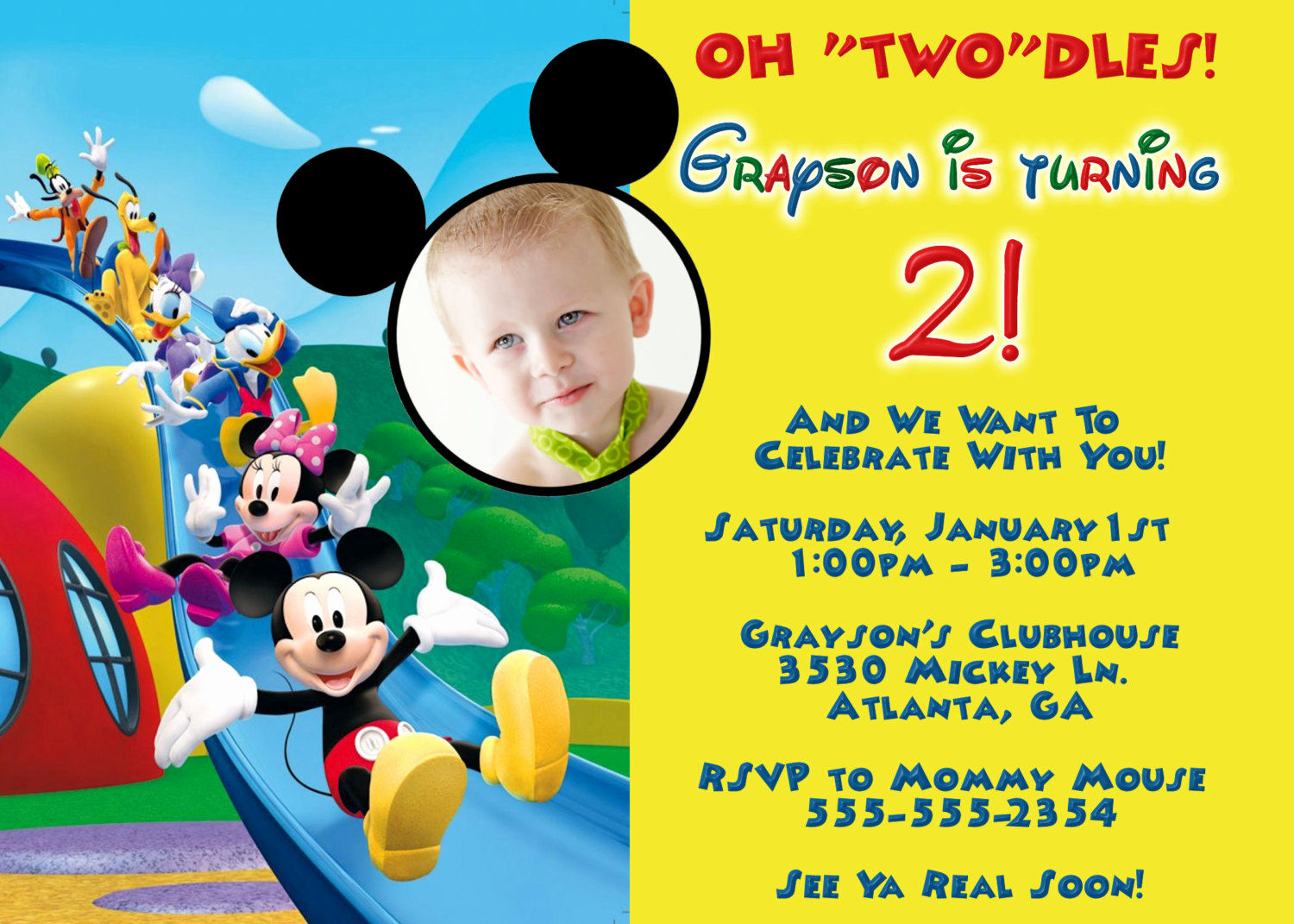 Mickey Mouse Clubhouse Invitations Awesome Mickey Mouse Clubhouse Birthday Invitations
