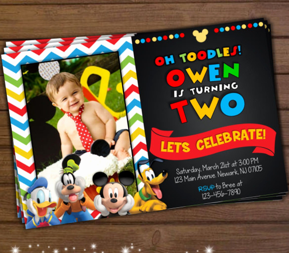 Mickey Mouse Clubhouse Invitations Beautiful 31 Mickey Mouse Invitation Templates Free Sample